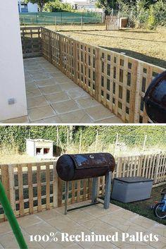 Pallet Fence – Exterior Pallet-Made Barrier - 99 Pallets