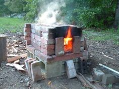 The 1-hour Brick Oven   http://people.umass.edu/dac/projects/BrickOven/Instant_BrickOven.htm#