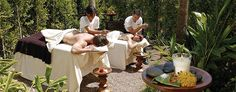 Outdoor Spa Massage Therapies at Estancia La Jolla....