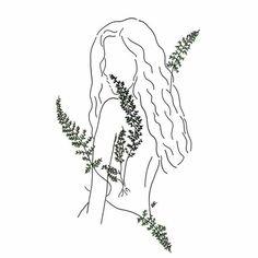 30 trendy flowers girl drawing aesthetic - Famous Last Words Kunst Inspo, Art Inspo, Plant Drawing, Painting & Drawing, Drawing Flowers, Tattoo Flowers, Art And Illustration, Tumblr Flower, Tumblr Drawings