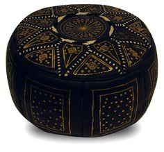 - Poof Pouffe pouffes hassock Footstool Beanbag leather pillow Moroccan Pouf Leather Pouf Ottoman, Gold and black leather Fassi pouffe Round Leather Ottoman, Leather Footstool, Round Ottoman, Leather Pillow, Black Ottoman, Ottoman Footstool, Moroccan Leather Pouf, Moroccan Pouf, Moroccan Decor