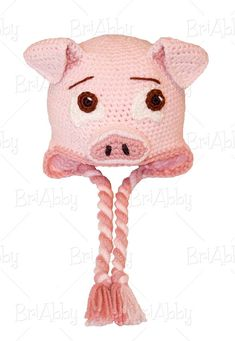 The Perfect Crochet Pig Hat Pattern PDF FILE