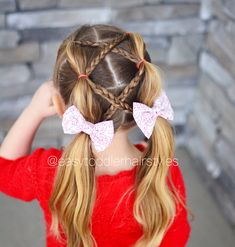 Image may contain: one or more people and closeup Cute Girls Hairstyles, Easy Hairstyles, Toddler Hairstyles, Girl Hair Dos, Hair And Nails, Hair Makeup, Braids, Hair Beauty, Hair Accessories