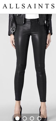 Leather look trousers.  One of top 5