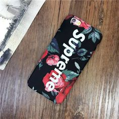 Rose supreme phone case cover For iPhone 6 6plus 6s 7 7plus hard cases