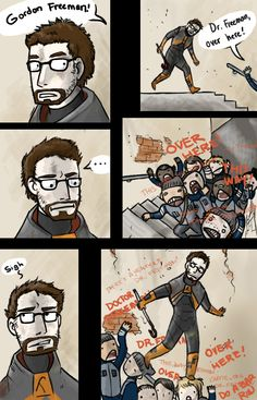 OVER HERE DR. FREEMAN by ~GloomyLavv on deviantART Mr Freeman, Gordon Freeman, Half Life 3 Confirmed, Sorry For Being Late, Valve Games, Spyro The Dragon, Team Fortress 2, Comic Movies, Indie Games