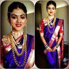 #Makeup &#Hairstyle by #Efferrvescenze #paithani #traditional #maharashtrian…