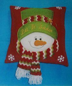 Cojin muñeco de nieve patchwork