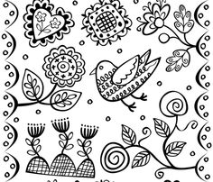 Colour in Wall Garden fabric by yellowstudio on Spoonflower - custom fabric