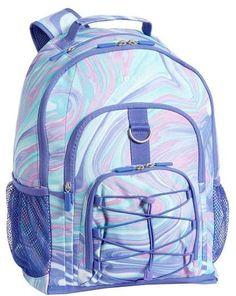 dacea535db Pottery Barn Teen Gear-Up Pink Purple Marble Backpack Pottery Barn Teen  Backpacks