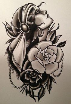 Tattoo sleeve traditional gypsy girls 47 ideas for 2019 - Tattoos Neue Tattoos, Body Art Tattoos, Sleeve Tattoos, Gypsy Tattoo Sleeve, Old School Tattoo Sleeve, Drawing Tattoos, Gypsy Girl Tattoos, Tattoo Girls, Gipsy Tattoo