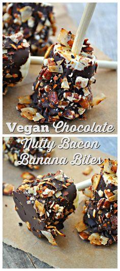 Vegan Chocolate Nutty Bacon Banana Bites