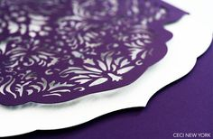 Luxury Wedding Invitations by Ceci New York - Our Muse - Modern Luxury Middle Eastern Wedding - Be inspired by a luxurious, modern Middle Eastern wedding in shades of purple and white - ceci new york, invitations, laser-cut, die-cut, ombre, wedding, purple wedding invitation
