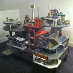 Spaceport Playset. Dollhouse for a boy!