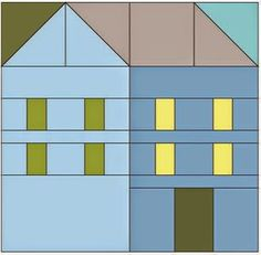 Hillside Houses Coloring Sheet   Pretty Little Quilts   Bloglovin'
