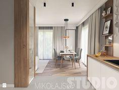 Flat on the Pradnicka street (Kitchen and Salon) on Behance Salon Interior Design, Studio Room, Kitchen Design, New Homes, Lounge, Living Room, Furniture, Behance, Home Decor