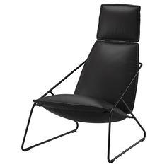 VILLSTAD Korkeaselk lepotuoli - Samsta antrasiitti - IKEA