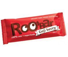 Roobar goji berry x 30 g) Muesli, Sin Gluten, Berry, Goji, Raw Vegan, Superfoods, Treats, Figs, Afternoon Snacks