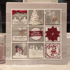 Christmas Paper Crafts, Homemade Christmas Cards, Stampin Up Christmas, Christmas Projects, Handmade Christmas, Christmas Diy, Christmas Shadow Boxes, Christmas Frames, Christmas Signs