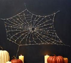 Lit Crystal Spider Web