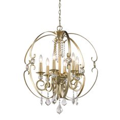 House of Hampton Harry 6-Light Candle-Style Chandelier