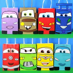 DIY Cars Party Theme Favor Bags. Simply Print, Cut and Paste. Make as many as you need.