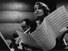 Eve Arnold, Marlene Dietrich at the Recording Studios of Columbia Records, New York, 1952