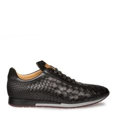 Mezlan Toronado Men's Shoes Black Woven Suede / Calf-Skin Leather 9467 (MZ3215) Material: Suede /... Dress With Sneakers, Casual Sneakers, Leather Sneakers, All Black Sneakers, Shoes Sneakers, Dress Shoes, Italian Sneakers, Black 13, Color Black