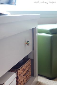 TV Stand with Pivoting Door to Hide Electronics