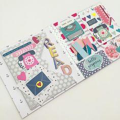 Happy Mail Mini Scrapbook Albums, Scrapbook Journal, Scrapbook Cards, Mini Albums, Diy Crafts For Girls, Diy And Crafts, Snail Mail Flipbook, Envelope Book, Snail Mail Pen Pals