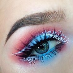 """Wild Cat on Instagram: """"✨ Shadows used are Suburbia, Ice Angel, Castle On The Hill, Heart Shaped Cookie, and Home Sweet Home from the @sugarpill Edward Scissorhands palette, and @makeupgeekcosmetics Bitten ✨ Waterline is @lagirlcosmetics Glide Gel Liner in Very Black and @maccosmetics Chromagraphic Pencil in Light Blue ✨ White Liquid Liner is from @nyxcosmetics ✨ Lashes are @powderandpandemonium Hypatia ✨ Brows are @nyxcosmetics Blonde Tame n' Frame and @anastasiabeverlyhills Dark Brown…"""