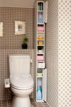 Small Bathroom Storage, Small Storage, Bathroom Organization, Storage Shelves, Kitchen Storage, Storage Ideas, Organization Ideas, Small Shelves, Paper Storage