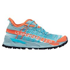 La Sportiva Womens Mutant Backcountry Trail Running Shoe Ice Blue Coral 375 * Click image to review more details.