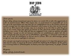 Hop Sing Laundromat 1029 Race Street