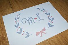 Monograma Personalizado para Casamento  R$ 25,00   Loja de Convites e Papelaria para Casamento - Por Mira Melke