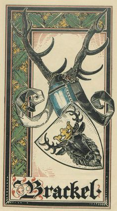 von Brackel (German) -- Baltischer Wappen-Calendar 1902 (Baltic States Coats of Arms Calendar) published in Riga by E Bruhns with illustrations by M. Kortmann.