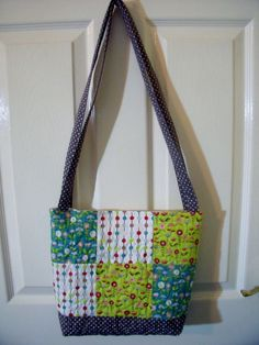 Handmade Quilted tote bag  medium size shoulder by Fabrilushus, £17.99