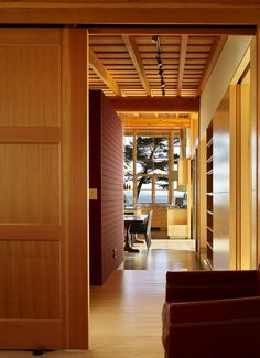 Exposed timber ceiling creates a great sense of warmth
