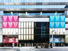 Superfuture :: supernews :: tokyo: like a flight of starling Mall Facade, Shop Facade, Website Design Layout, Layout Design, Shopping Mall Architecture, Wood Front Doors, Shop Icon, Coffee Design, Starling