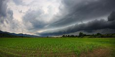 Storm of June - Waiting for incoming thunderstorm with big cold front shelf cloud. Photography by  Jure Batagelj