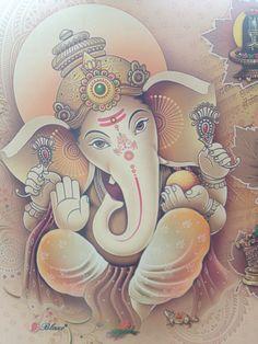 Religion & Co Ganesha Tattoo, Ganesha Art, Lord Ganesha, Lord Shiva, Ganesha Painting, Hindu India, India Art, Hindus, Om Gam Ganapataye Namaha