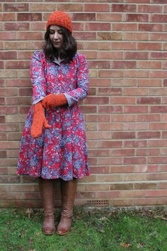 Marilla Walker: new hat and mittens set + Sew Over It Vintage Shirt Dress