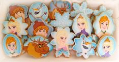 """Frozen"" Themed Cookies 