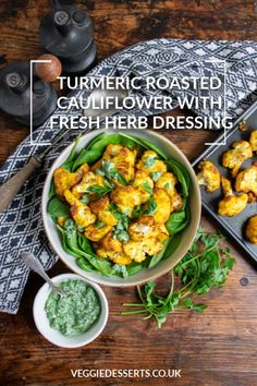 vibrant turmeric roasted cauliflower is delicious hot or cold, as a salad, main meal or side dish. It only takes 20 minutes and roasting the cauliflower makes it deliciously soft but crispy. Vegetarian Recipes Dinner, Healthy Recipes, Vegan Dinners, Lunch Recipes, Vegetable Recipes, Beef Recipes, Cooking Recipes, Vegan Vegetarian, Vegetarian Recipes