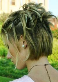 Updo Short Hair.  Maybe not so spikey, more curly on top?