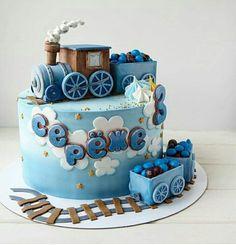 68 New Ideas For Cake Decorating Birthday Boy Baby Shower Baby Birthday Cakes, Baby Boy Cakes, Cakes For Boys, Birthday Kids, Fondant Cakes, Cupcake Cakes, Fondant Baby, Cute Cakes, Pretty Cakes