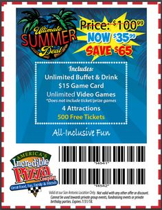 Incredible pizza coupons youtube incredible pizza coupons incredible pizza printable coupons and discounts 2018 stopboris Choice Image