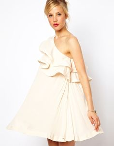 ASOS Sundress With Extreme One Shoulder Frill