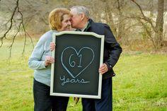Anniversary Photography. Elderly Couple. Chalkboard Photography. Couple Photography. Couple Poses. Colorful Photography. Creative Photography. Love. #boldphoto