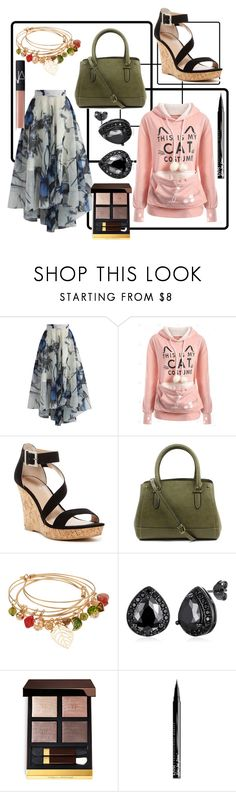 """""""Untitled #197"""" by kaira54321 ❤ liked on Polyvore featuring Chicwish, Charles by Charles David, New Directions, NYX and NARS Cosmetics"""